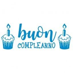 TANTI AUGURI Printy 4912 - Buon compleanno - blu
