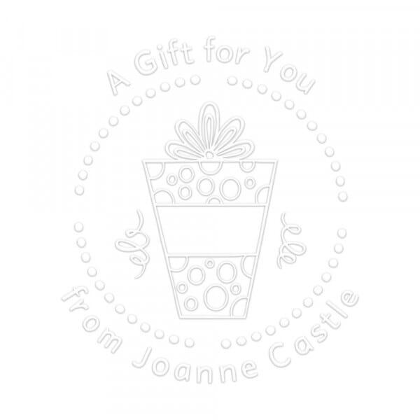 Timbro a Secco Rotondo Monogram Un regalo per te