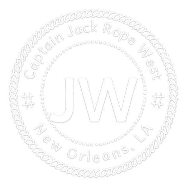 Timbro a Secco Monogram Bordo di corda Rotondo