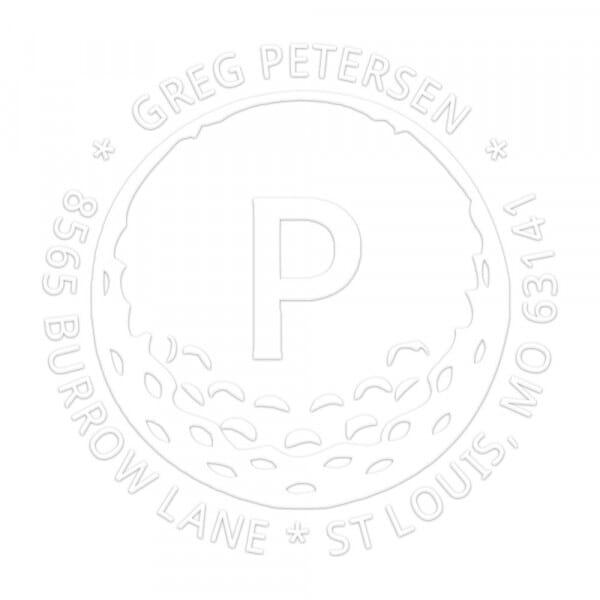 Timbro a Secco Rotondo Monogram Golf