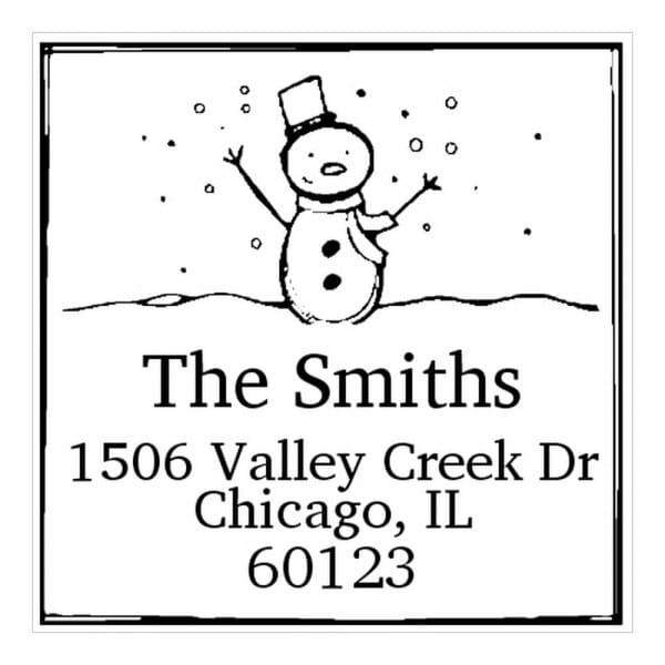 Timbro Quadrato Monogram Pupazzo di neve