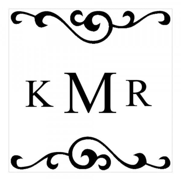 Timbro Quadrato Monogram Stile tradizionale 1
