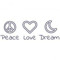 TRODAT IN LOVE Printy 4912 - Peace Love Dream - viola