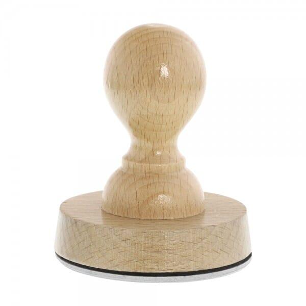 Timbro in legno rotondo, ø 70 mm