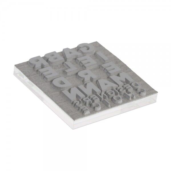 Piastra di Testo per Trodat Printy 4933 25 x 25 mm - 5 righe