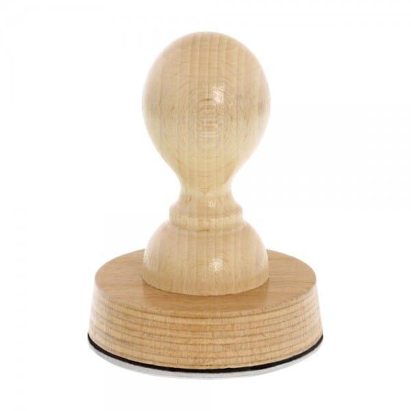 Timbro in legno rotondo, ø 60 mm