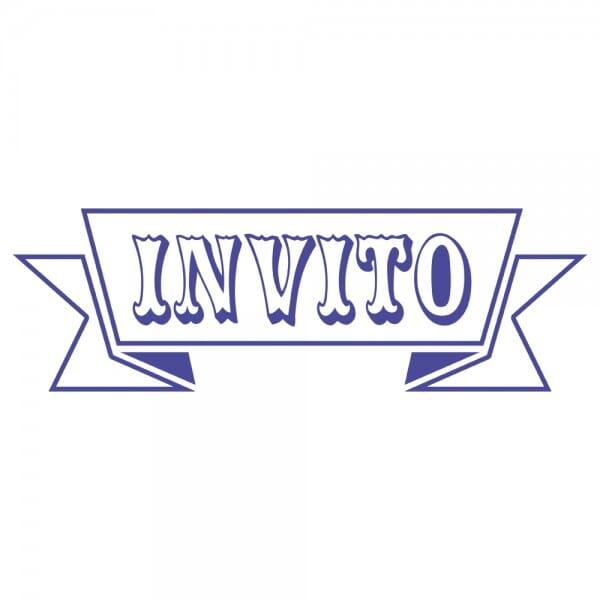 LET'S PARTY Printy 4910 - Invito - viola